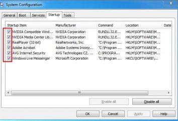 Como desativar os programas de inicialização no Windows 7: formas possíveis.