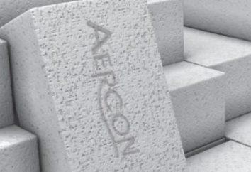 Aciocrete de béton cellulaire: caractéristiques et instructions d'utilisation