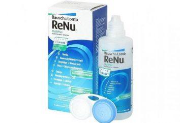 lentille fluide ReNu: manuel et commentaires
