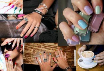 manicure colorata. Aggiungere un arcobaleno a sua immagine