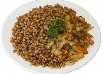 Cómo cocinar guarnición de trigo sarraceno con las verduras estén doradas?