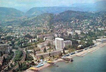 Città di Sukhumi. Abkhazia e la sua stazione principale