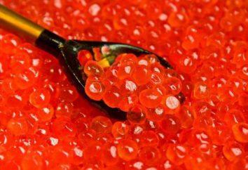 Quel est le plat de caviar rouge peut être préparé?