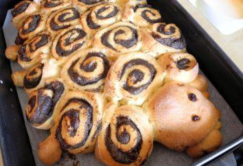 Tortas con masa semillas de amapola levadura. Paso a paso la receta con fotos