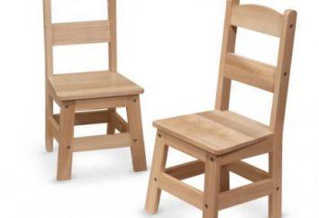 Cadeiras com as mãos: desenhos, dimensões