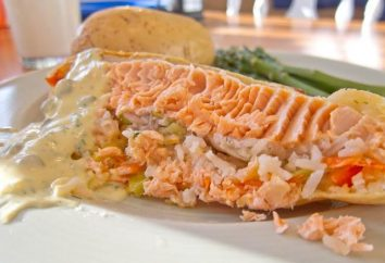 Kulebyaka gustoso pesce. Torta Ricette con funghi, pollo o carne