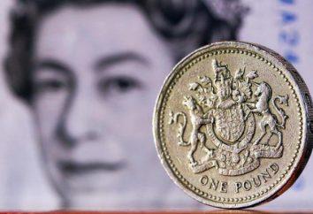 moedas do Reino Unido: moedas de um centavo e libras