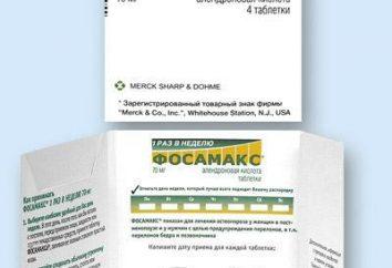 """""""Fosamax"""" Tabletki: instrukcję obsługi, opis, skład i opinie"""