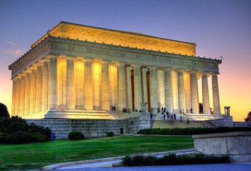 O famoso presidente dos EUA Abraham Lincoln? Memorial em Washington, descrição, história, informações sobre viagens