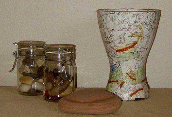 szklany wazon. Decoupage
