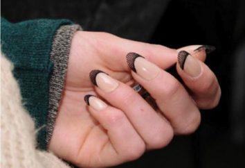 Schwarze Jacke – extravagant Nageldesign