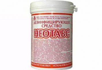 "Modo de empleo: ""Neotabs"" – desinfectantes"