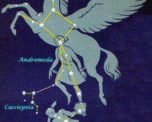 Constellation d'Andromède: la légende, l'emplacement, les points d'intérêt