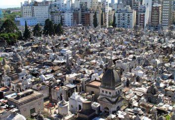 Cimitero di Recoleta a Buenos Aires. luogo di sepoltura di argentini famosi