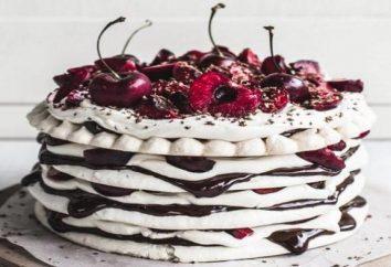 ciastka historii. Rodzaje ciast i dekoracji. torty