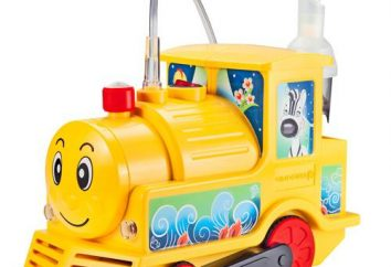 """Inhalador de """"tren"""" – instrucción. Los niños compresor nebulizador """"entrenar"""""""