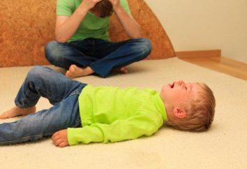 A criança rolou quando a chorar – o que fazer, como se acalmar?