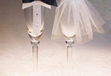 Los atributos de la boda con sus propias manos: almohada para anillos de boda, gafas, un libro de los deseos y las fotos