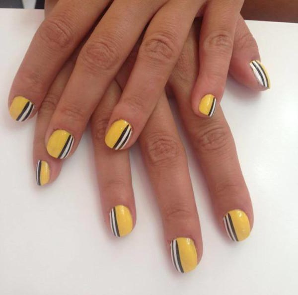 Uñas de gel de esmalte en las uñas cortas: las tendencias de la moda ...