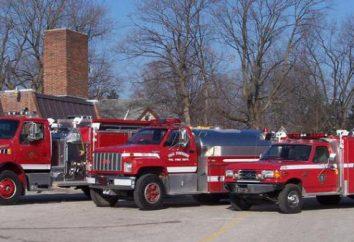 camions de pompiers principaux: types, caractéristiques