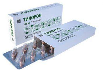 """""""Tilorona"""": Gebrauchsanweisung. Zubereitungen auf der Grundlage tilorona"""