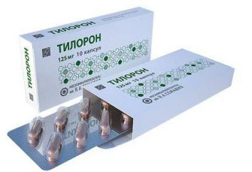 """Tilorona"": istruzioni per l'uso. Preparazioni a base di tilorona"
