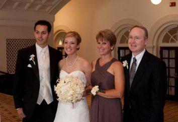 Un grazie sincero ai genitori al matrimonio