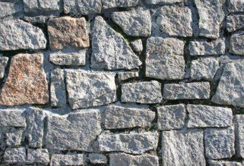 Bruchsteinmauerwerk. Schutt Verlegetechnik