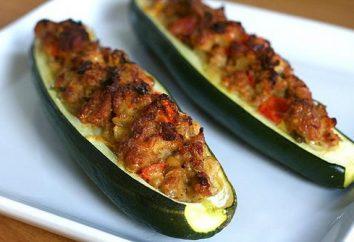Barche di zucchine ripieni di carne e pomodoro