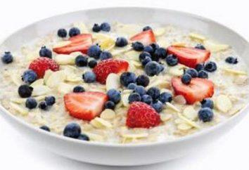 Los beneficios de copos de avena por la mañana. alimentación adecuada y saludable