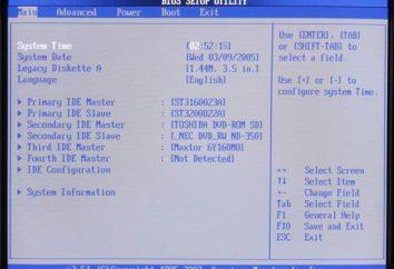 """Jako """"windose 7"""" obejmują BIOS i zobaczyć główne parametry i ustawienia"""