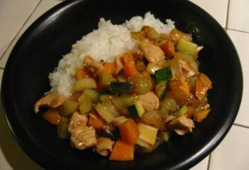 Incredibilmente deliziosa calda: petto di pollo con verdure