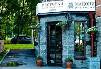 """Le restaurant """"Mazzoni"""": menu, design d'intérieur, mobilier"""