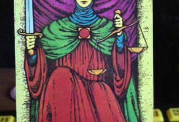Sprawiedliwość, Tarot: wartość. Śmierć i Sprawiedliwość, Tarot: mix