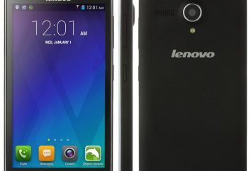 Smartphone Lenovo A606: critique, description, avis