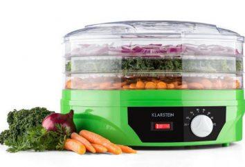 Asciugatrice elettrica per frutta e verdura: modello, descrizione, caratteristiche