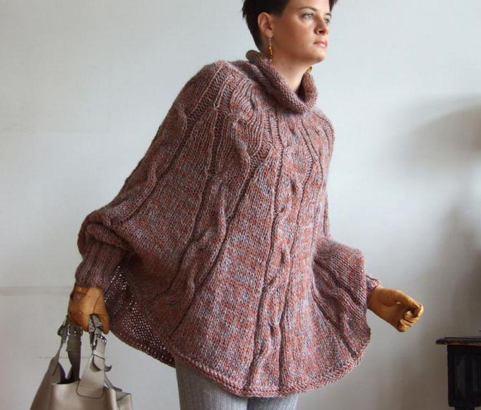Ponchos femeninos con agujas de tejer. Esquemas y recomendaciones