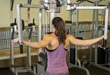 """Ćwiczenia """"Butterfly"""": technika wydajność. w ćwiczeniach gimnastycznych dla mężczyzn dla mięśni piersiowych"""