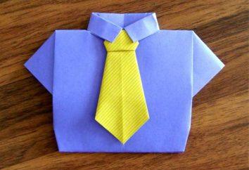 Comment faire un lien origami avec une chemise: une classe de maître
