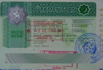 Visto per il Turkmenistan per i cittadini russi. Ambasciata del Turkmenistan a Mosca