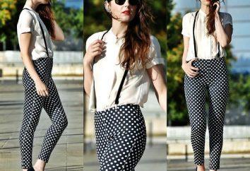 De qué ponerse los pantalones con los lunares: combinaciones de moda y estilistas recomendaciones