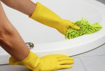 Moyens pour le lavage des bains acryliques. Que signifie pour laver baignoire en acrylique