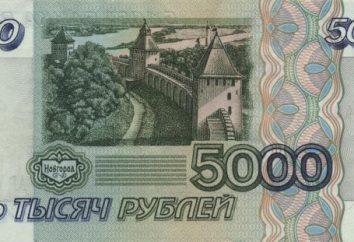 """A denominação """"5000 rublos"""": história da aparência e proteção. Como reconhecer uma nota falsa, """"5000 rublos"""""""