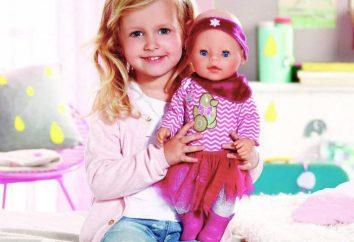 Interaktywne lalki Baby Born: opis, recenzje. Zabawki dla dzieci