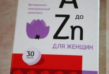 « Être en bonne santé! Vitamines pour les femmes A à Zn »: composition et les propriétés