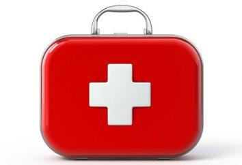apteczka, biuro medyczny: skład, zasady przechowywania