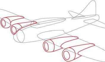 Jak narysować wojskowe samoloty stopniowo ołówkiem? Instrukcja krok po kroku
