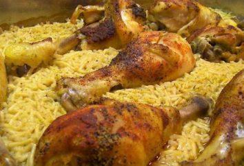 Cuisses de poulet avec du riz au four: recette, conseils culinaires