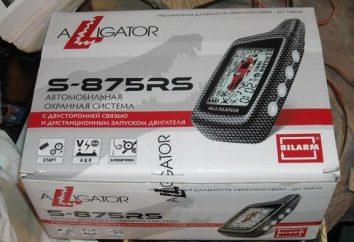 Alarme de voiture Alligator S-875RS: instructions pour l'installation et le fonctionnement, commentaires