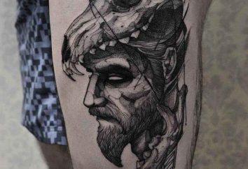 Männer-Tattoo auf dem Oberschenkel: Wert und Foto